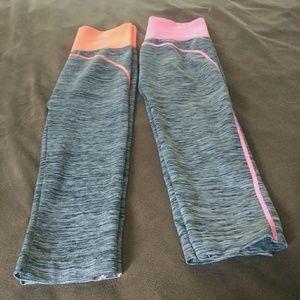 Pants - Workout Capris.  Bright colors. 2 pair
